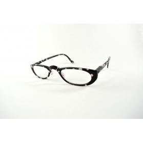 Oval half-moon reading glasses