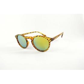 Small round brown zebra sunglasses