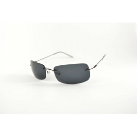 Invisible metal sunglasses with flexible temples