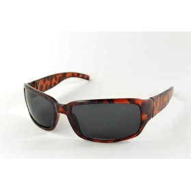 Tortoiseshell rectangular mask sunglasses