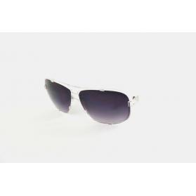 Rectangular transparent pilot sunglasses