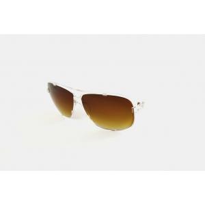 Lunettes de soleil pilote rectangulaire monture transparente