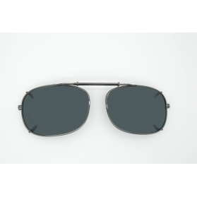 Large oval polarized clip-on