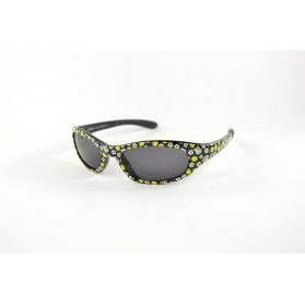 Oval child sunglasses with colorful printings