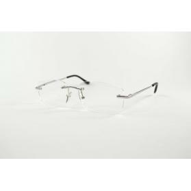 Half-moon rectangular reading glasses