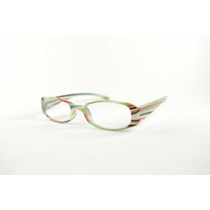 Lunettes de lecture ovales rayures mutlicolores