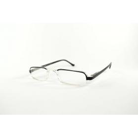 Gafas de lectura de media luna bicolor y rectangular