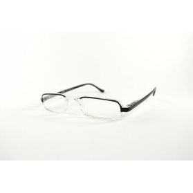 Half-moon rectangular two-tone reading glasses