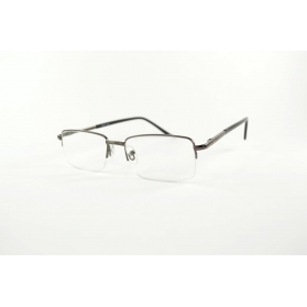 Rectangular semi-rimless reading glasses