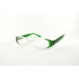 Oval reading glasses with rhinestone