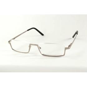 Gafas de lectura rectangulares de semicírculo invierten