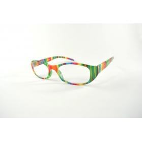 Large oval reading glasses with playful printings