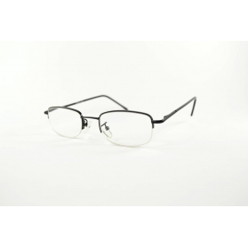 Half-rimmed reading glasses with round edges