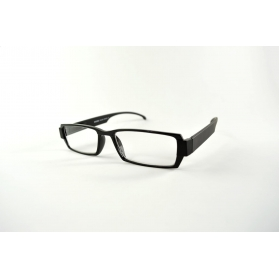Rectangular reading glasses with thickness effect on the nose and on each side of the frame