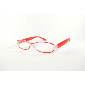 Oval two-color frame reading glasses and bi-material
