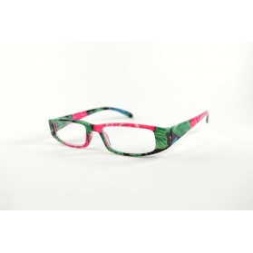 Rectangular reading glasses with floral printings