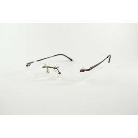 Invisible rectangular reading glasses