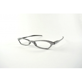Fluttering half-moon reading glasses with funny printings