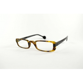 Half-moon large rectangular reading glasses with pointed nose