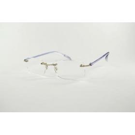 Gafas de lectura rectangulares invisibles con las patillas flexibles y transparentes