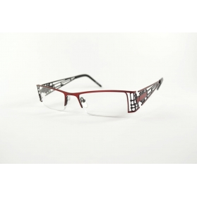 """Manhattan"" rectangular reading glasses with decorated temples"