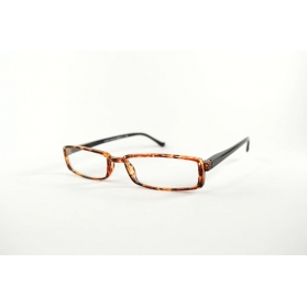 Thin half-moon two-color reading glasses
