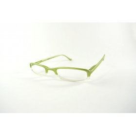 Rectangular half-moon reading glasses with rounded edges