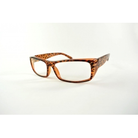 Rectangular mask reading glasses with wide temples