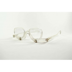 Transparent make-up magnifying glasses with removable lenses