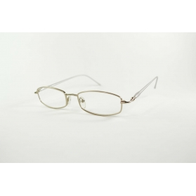 Silver oval reading glasses with matt temples