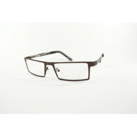 Straight rectangular reading glasses with airy temples
