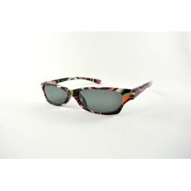 Gafas de lectura de sol ovales con impresos psicodélicos multicolores