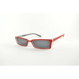Red cat eye sun reading glasses with black diamond inside temples
