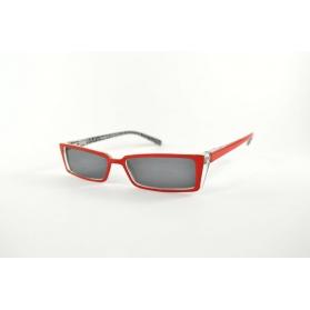 Lunettes de lecture verres teintés œil de chat rouges fines intérieur imprimé losange noir
