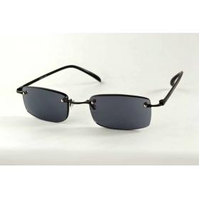Gafas de lectura de sol negras sin rebordes con patillas flexibles