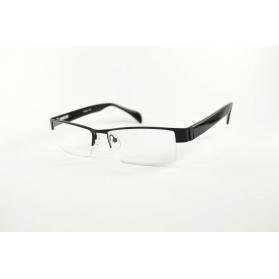 Rectangular  half-rimmed bimaterial reading glasses