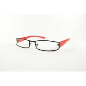 Rectangular bimaterial reading glasses
