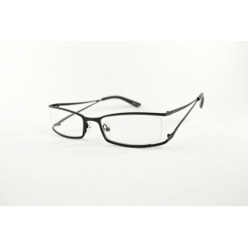Rectangular rimmed reading glasses with opening temples