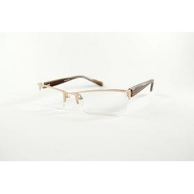 Gafas de lectura rectangulares semicirculas bimateriales