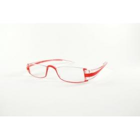 Gafas de lectura de media luna transparente rectangular TR90