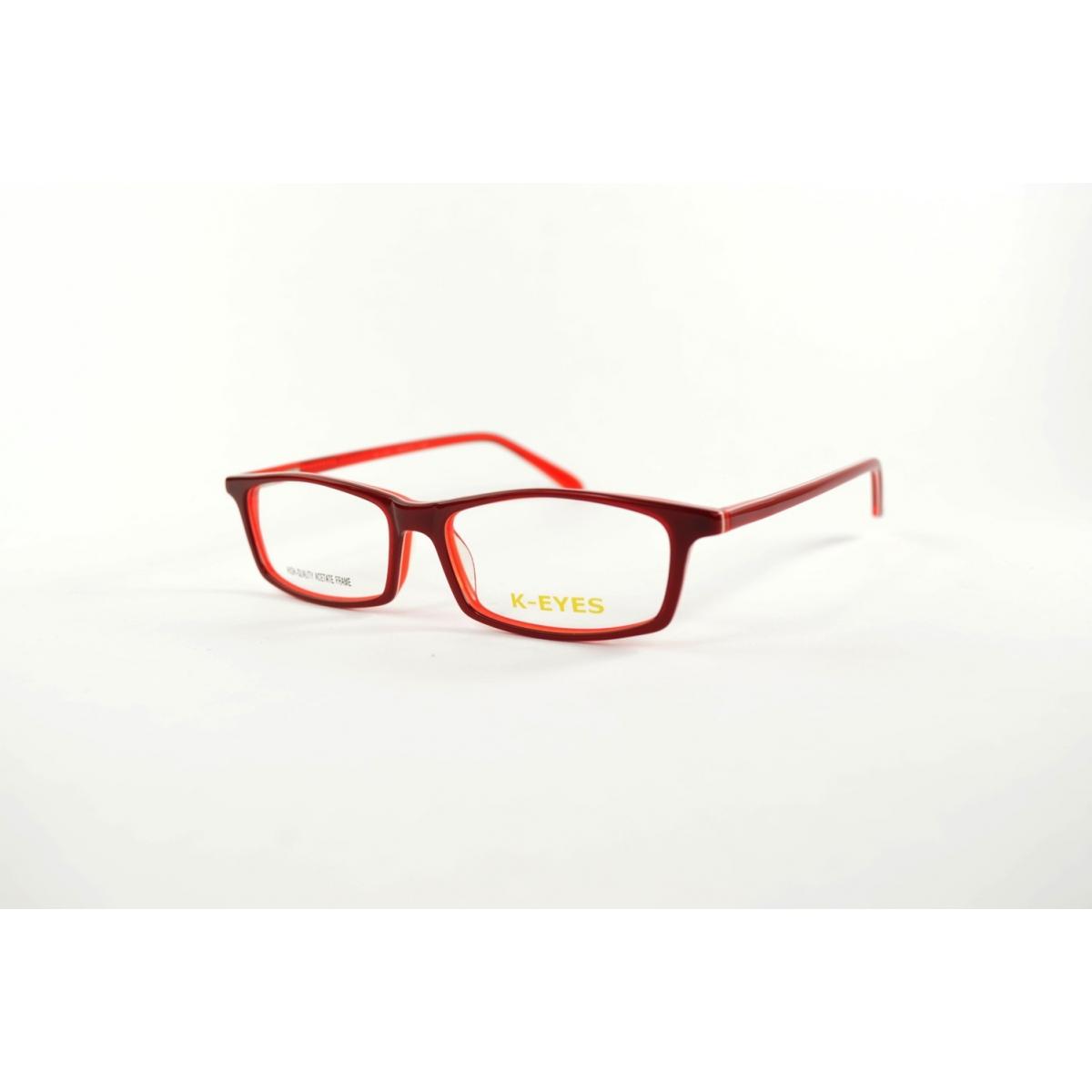 Monture optique rectangle rouge