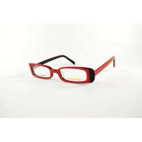 Slightly fluttering rectangular two-color optical frame
