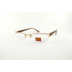 Rectangular half rimmed optical frame with acetate temples
