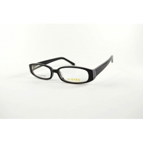 Two-color rectangular optical frame with rounded edges