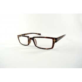 Rectangular reading glasses with thin temples and male printings