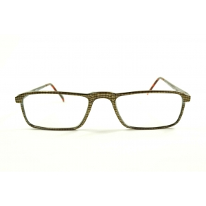 Rectangular printed reading glasses with pointed nose