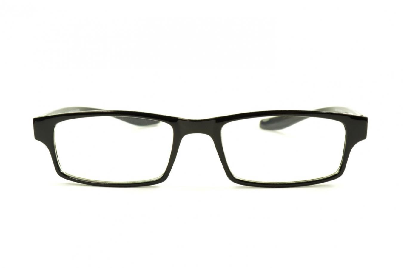 rectangular reading glasses around the neck k