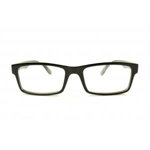 Rectangular reading glasses with stripes inside