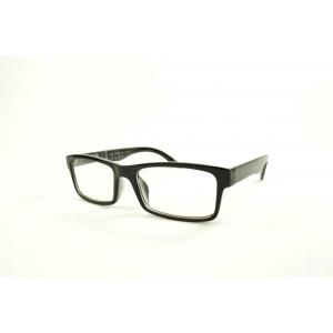 Gafas de lectura rectangulares con rayas en el interior