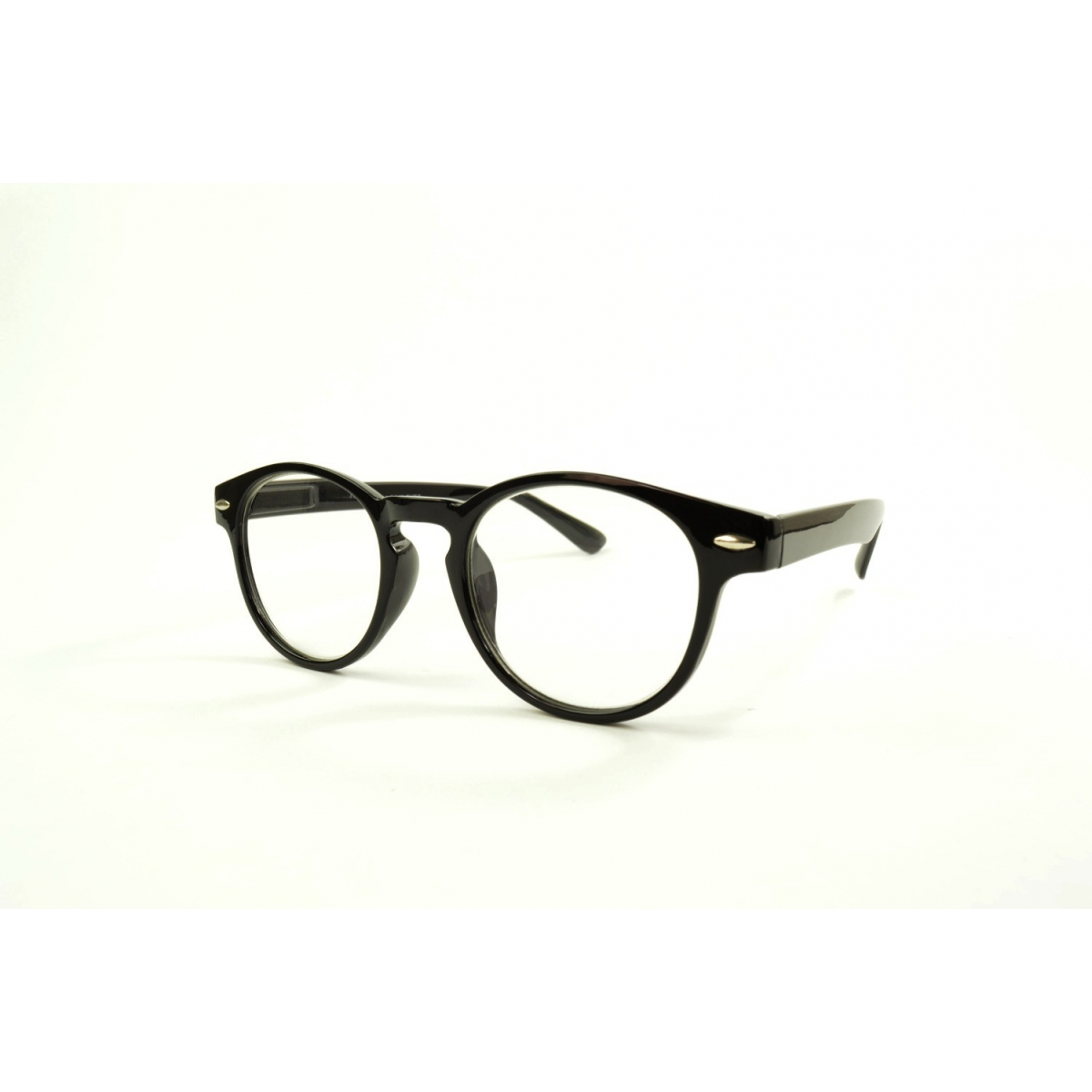 Round reading glasses retro with 2 studs on each sides of the frame